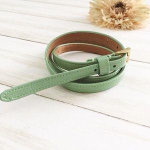 J. Crew Mint Green Skinny Belt - S